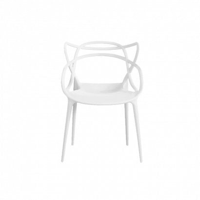 Polypropylene Plastic Dining Chair Loop in White